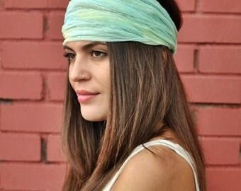 Tulle Headband, Mint Headband, Running Headband, Yoga Headband, Boho Headband, Workout Headband, Womens Turban, Womens Headband