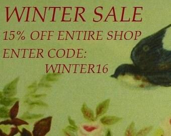 WINTER SALE Take 15% Off Entire Shop