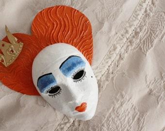 Queen of Hearts/Red Queen Masquerade Mask