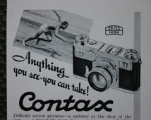 Zeiss Contax Camera Ad c1950s