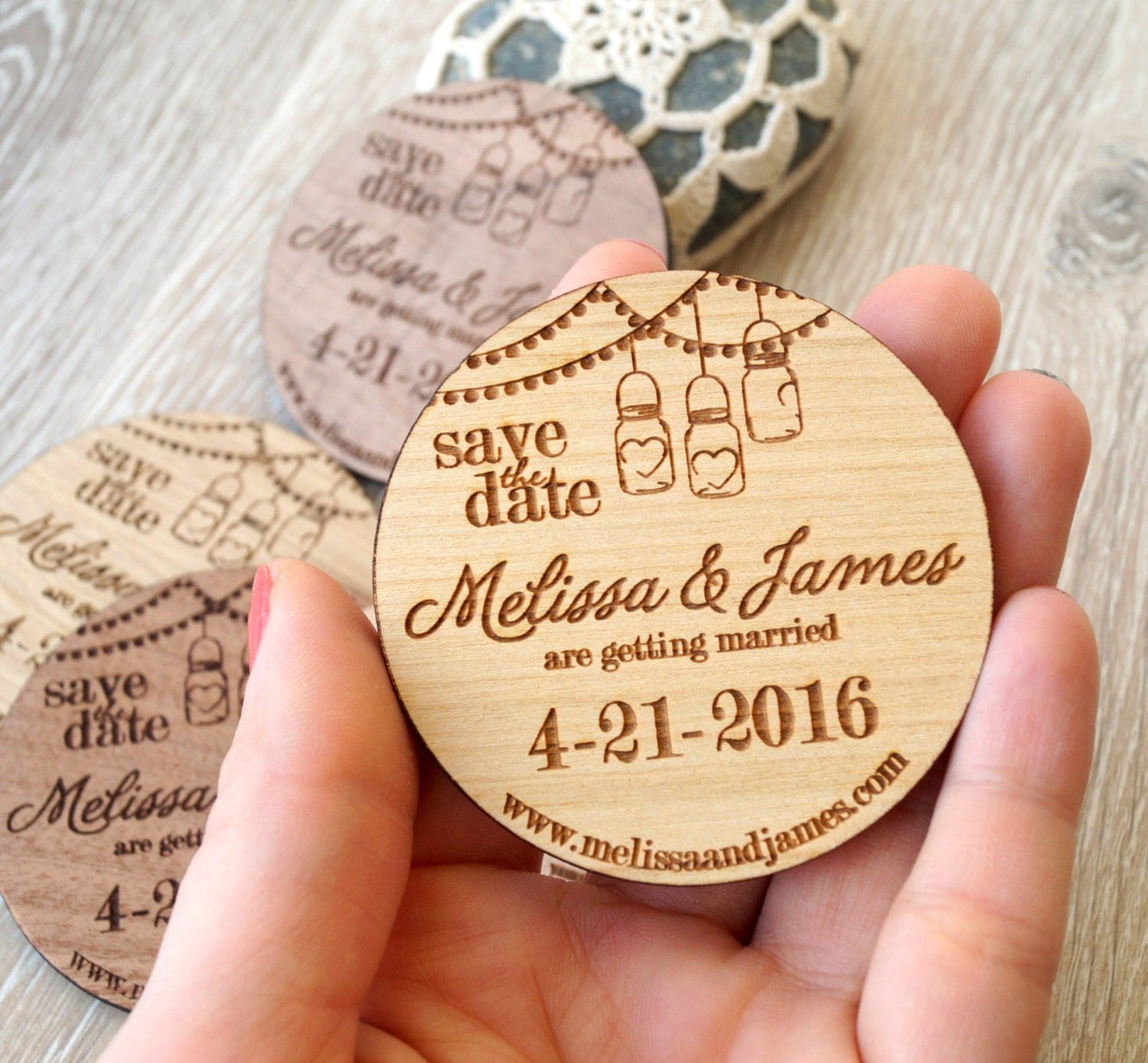 Wood save the date | Etsy