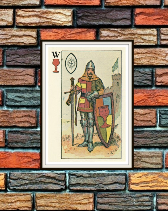 Knight Of Cups Knapp-Hall French Tarot Card By
