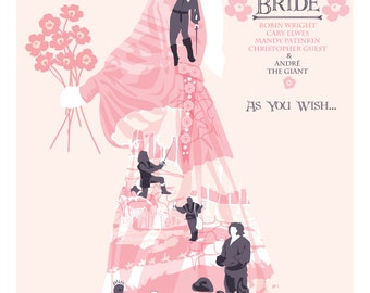 """The Princess Bride (1987)  Inspired Movie Poster """"As You Wish"""", by Cutestreak Designs. Version 2. 2015."""