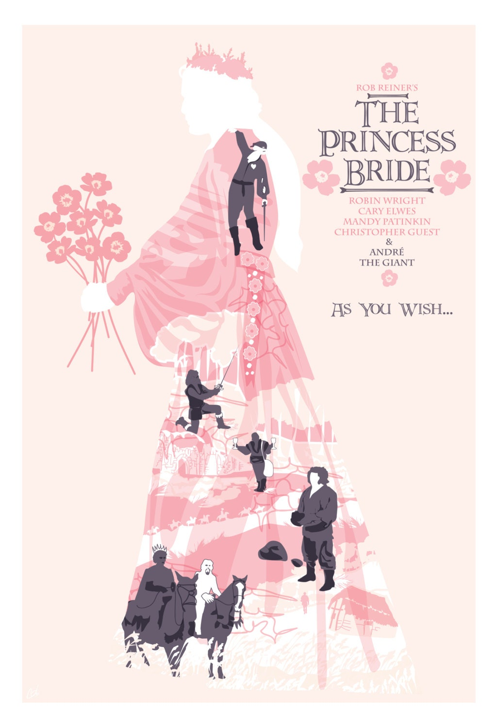 The Little Prince Inspired Quote 2nd Edition Art Print: The Princess Bride 1987 Inspired Movie Poster As You