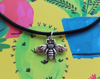 Bumblebee Cord Choker Necklace