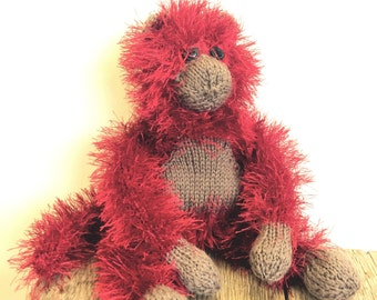 Knitted Wool Monkey Pattern WM2035