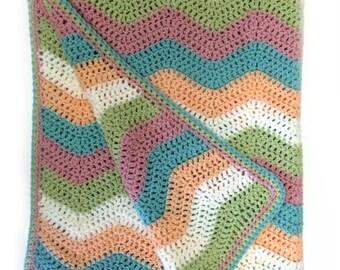 Wool Monkey Crochet Baby Ripple Blanket