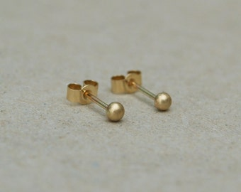 9ct yellow gold tiny gold ball studs - 9k gold - Organic gold earrings - 9ct yellow gold - Gold ball stud earrings - Everyday studs