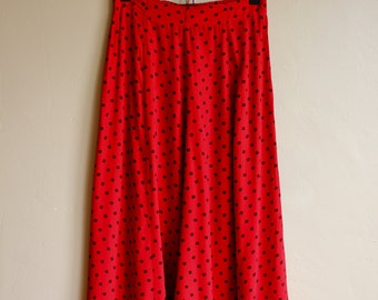True Red Senorita Skirt