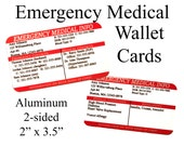 Emergency Medical Information Wallet Cards - ICE Info - 911