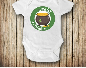 Wee Bit Irish St Patricks Day Bodysuit, Baby Boy St Patricks Day Bodysuit, Baby Girl St Patrick's Day Outfit, St Pattys Day, My First
