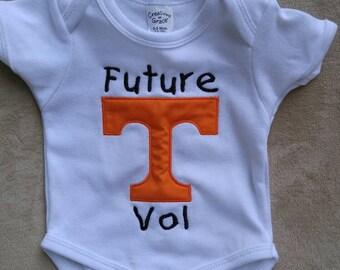 Future Tennessee Vol custom onesie, Vols, TN Vols, TN Volunteers