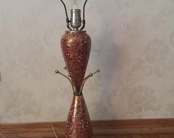 Mid Century Ceramic Speckled Table Lamp