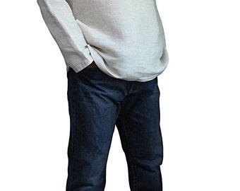 Hemp 100% Standing Collar Kurta (BRL-009-02)