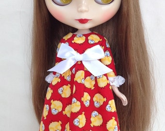 Chicken run! Dress for Blythe doll