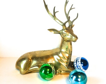Vintage Brass Reindeer/Deer, Hollywood Regency