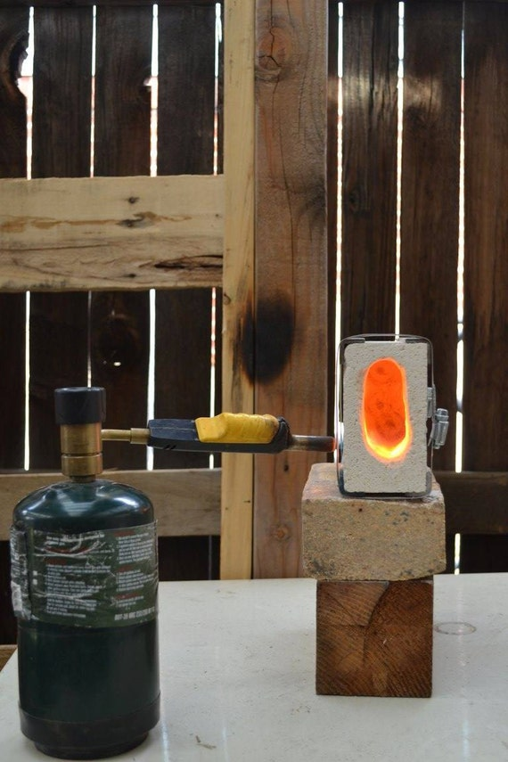 Brick Blacksmith Forge : One brick forge small blacksmith propane fire by sarqit