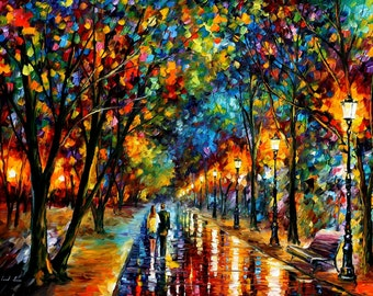 Large Wall Art Landscape Oil Painting On Canvas By Leonid Afremov  When  Dreams Come True