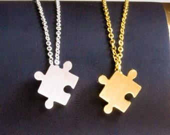 Double puzzle necklace
