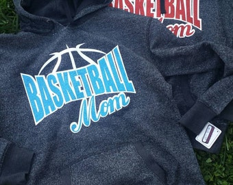 Basketball Mom Glitter Hoodies and Regular Hoodys with Glitter Print - More print color options