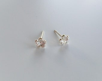 Cherry Blossom Studs - Sterling Silver