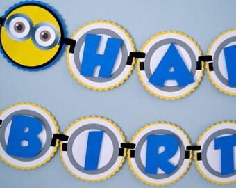 Minion Inspired Birthday Banner