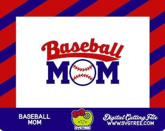 Baseball Mom SVG Baseball SVG Baseball Shirt Commercial Free Cricut Files Silhouette Files Digital Cut Files Baseball Mom Shirts
