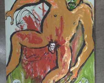 Outsider Art Painting of a Man