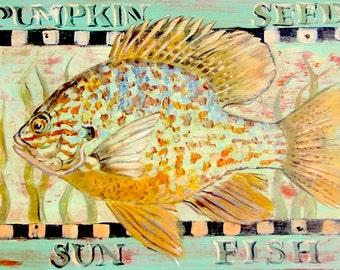 Sunfish Primitive 5x7 print