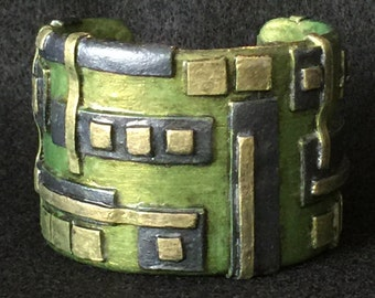 Cuff Bracelet Bangle Boho Polymer Clay Mid Century Modern Jewelry DIGITAL by Donna Pellegata ArtCirque