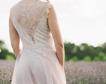Ephtalite   open back wedding dress  bohemian wedding dress ethereal wedding dress low back wedding dress low back wedding dress