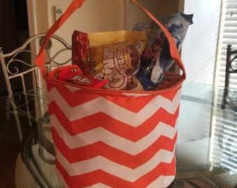 Personalized Halloween Bag - Orange and White - Halloween Bag - Halloween Shop