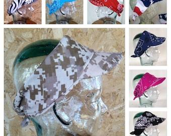 Army Tan Bandana Visor/Headband - Ready to Ship