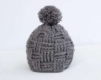 Crochet Woven Styled Beanie (Fall/Winter Weather Wear) (Photo Prop)