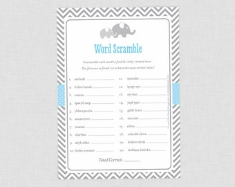 Little Peanut Word Scramble Game, Blue Boy Elephant Baby Shower, Baby Babble Quiz, Grey Chevron, Instant Download