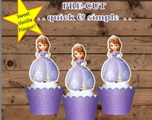 Extra Large Sofia First Princess EDIBLE wafer stand up cupcake toppers PRE-CUT birthday