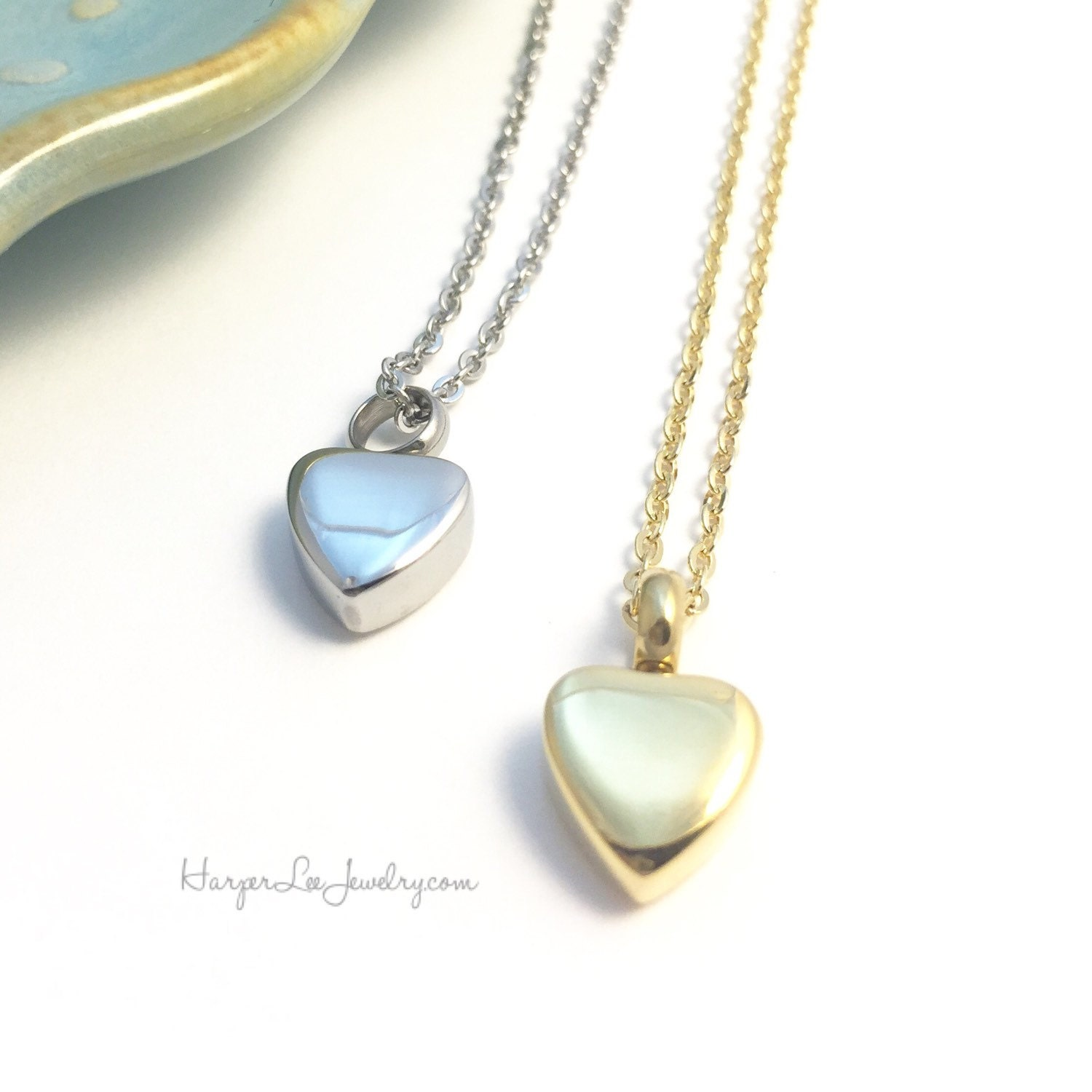 Cremation Urn Heart Charm Necklace Custom Pet Loss