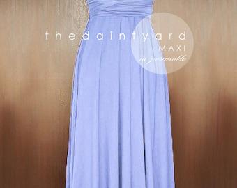 MAXI Periwinkle Bridesmaid Dress Convertible Dress Infinity Dress Multiway Dress Twist Wrap Dress Wedding Prom Dress Full Length Dress