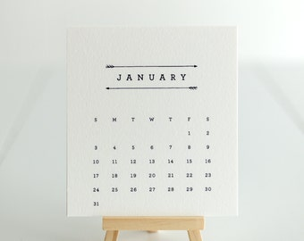 Desk Easel Calendar–Arrows