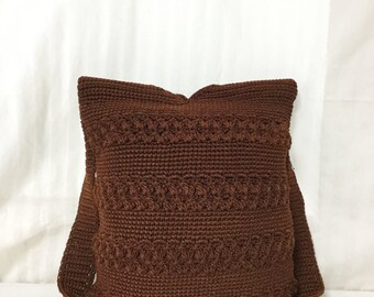 Brown Knit purse,bag,Bucket bag,Shoulder Bag