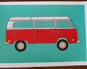 Volkswagon Bus Print