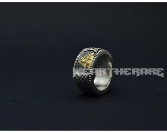 valknut viking norse ring scandinavian mens ring - Norse Wedding Rings