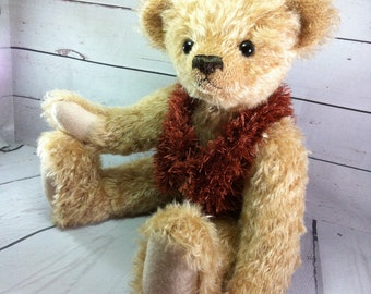 OOAK Artist  Bear - Traditional Mohair Bear for Collectors - Special Gift Idea - Baby Shower Gift - Special Birthday Gift - Special Friend