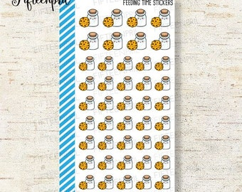 Milk bottles and cookies Stickers-J140 -tiny minimes stickers
