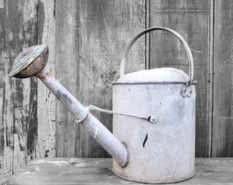 Old Metal Watering Can - 1950s Garden Prop