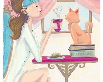 Holly Golightly & Cat (Breakfast At Tiffany's)