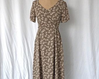 Laundry Olive Grunge Floral Dress