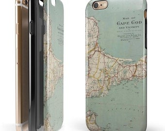 The Vintage Map of Cape Cod -  iNK-Fuzed Hybrid Two-Piece iPhone Case