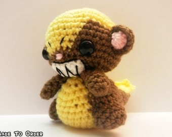 Crochet Yungoos Inspired Chibi Pokemon