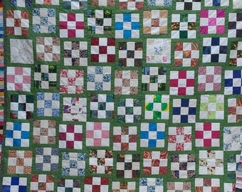 Dancing Nine Patch Quilt Top
